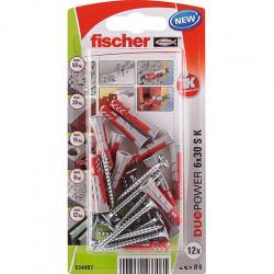 fischer DUOPOWER 6 x 30 S con tornillo
