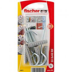 fischer Taco de expansión SX 8 x 40 RH con hembrilla abierta