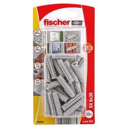 Taco de expansión Fischer SX 6 x 30 K con reborde