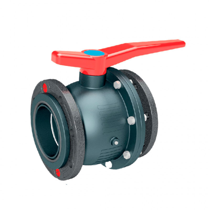 Valvula Esfera PVC Encolar P-Total 140 Gris