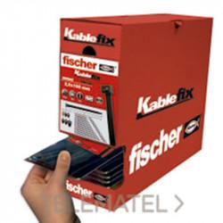 Brida Kablefix 4,8x370 Negra 100ud. Fischer
