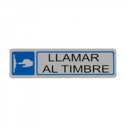 """Placa informativa """"Llamar Al Timbre"""" Modelo 70. Amig"""