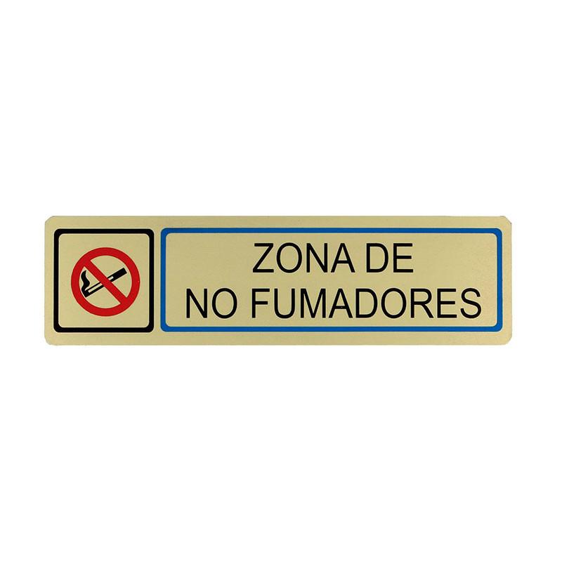 """Placa informativa """"Zona No Fumadores"""" Modelo 69. Amig"""