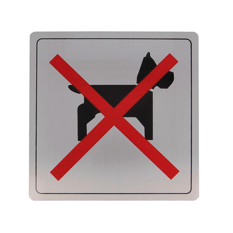 """Placa símbolo """"Perros No"""" Modelo 111. Amig"""