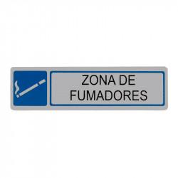 """Placa informativa """"Zona de Fumadores"""" Modelo 55. Amig"""
