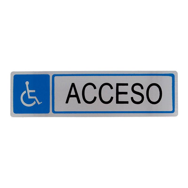 """Placa informativa """"Acceso"""" Modelo 50. Amig"""