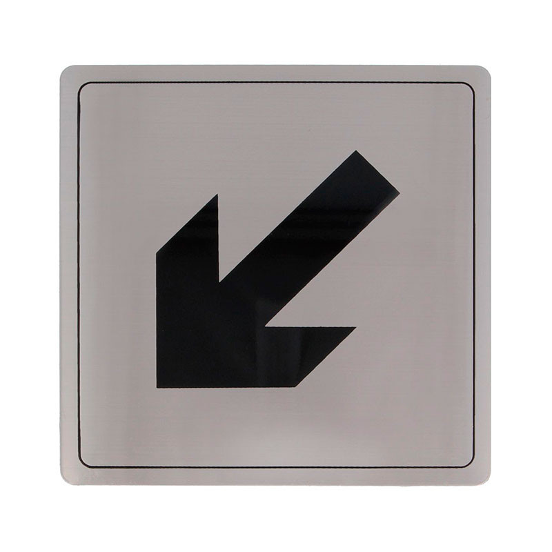 """Placa símbolo """"Flecha abajo inclinada"""" Modelo 107. Amig"""