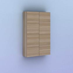 Mueble auxiliar de baño KANSHA de 50 cms. con 2 puertas. Acabado en Nogal Arenado