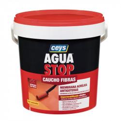 Aguastop Caucho Fibras Blanco 5 Kg. Ceys.