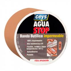 Aguastop Banda Impermeable Butilo Teja 30 cm. x 10 mt.  Ceys.