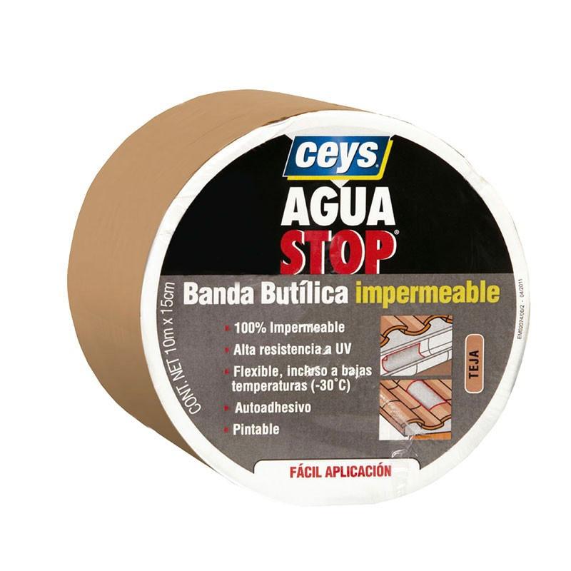 Aguastop Banda Impermeable Butilo Teja 15 cm. Ceys.