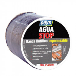 Aguastop Banda Impermeable Butilo  gris 15 cm .x 10 mt. Ceys.