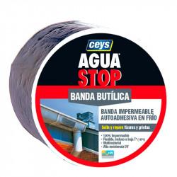 Aguastop Banda Impermeable Butilo  gris 10 cm. x 10 mt. Ceys.