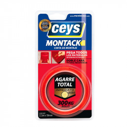 Montack Agarre Total Inmediato Cinta 2,5 mt x 19 mm. Ceys.