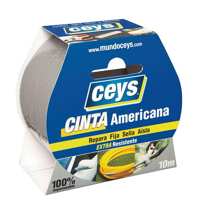 Tackceys Cinta Americana Plata Rollo 10 mt x 50 mm. Ceys.
