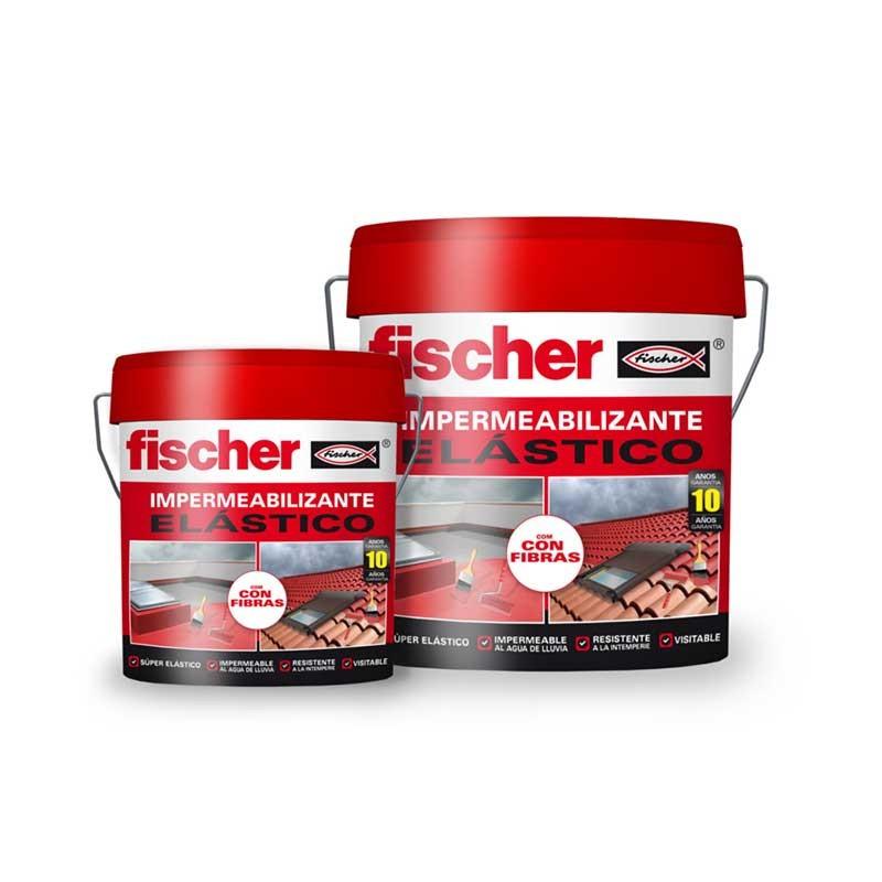 Impermeabilizante elástico 15L Gris Fischer