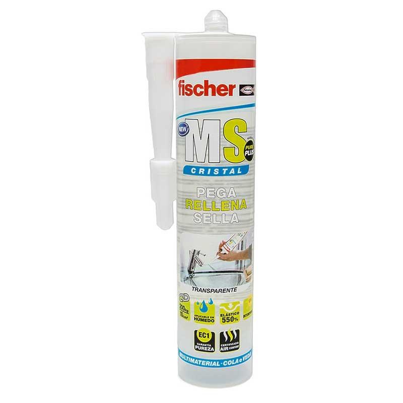 Sellante-adhesivo MS PLUS CRISTAL Fischer