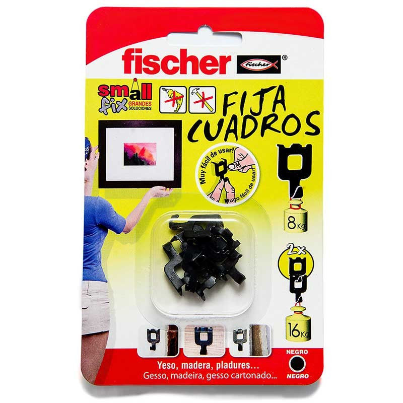 Fija cuadraos negro Fischer