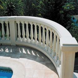 Remate Balaustre redondo 50x25x12 cm Blanco