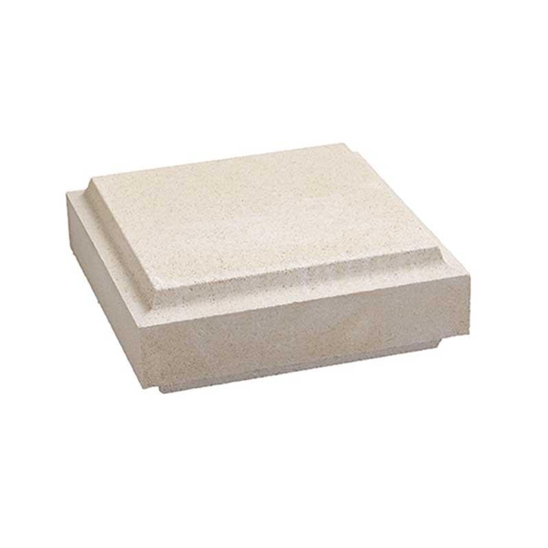 Cubrepilar exento para pilar clásico de 35x35x12 cm Blanco