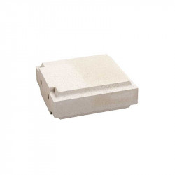 Cubrepilar de terminación de 35x35x12 cm Blanco