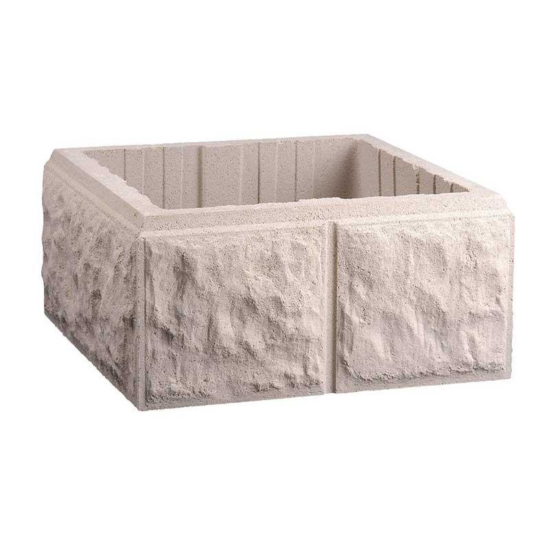 Pilar Labrado de 40x40 cm Blanco