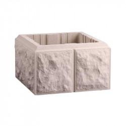 Pilar Labrado de 30x30 cm Beige