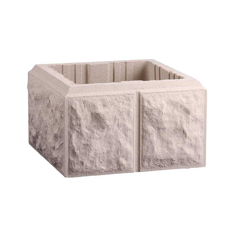 Pilar Labrado de 30x30 cm Blanco