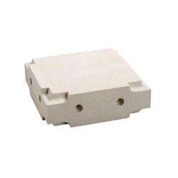 Cubrepilar de ángulo para pilar cláscio de 35x35x12 cm Blanco