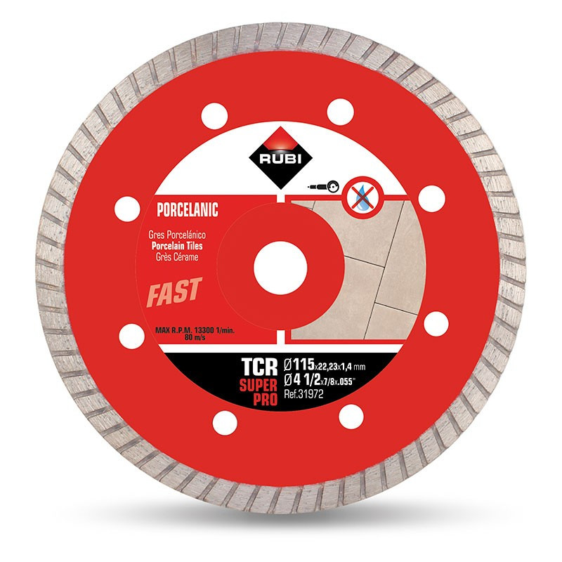 Disco diamante gres porcelánico Turbo TCR-115 Rubi SuperPro