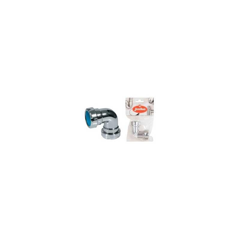 Codo Sifón Liso Rosca 2 bocas 1 1/4''-32 A-137 Jimten