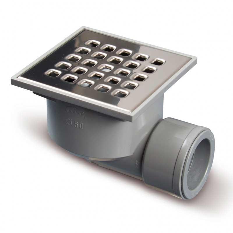 Sumidero PVC Rejilla Ac. Inox Salida Horizontal 50/40 S-191 Jimten