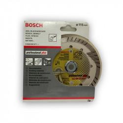 Disco diamante Professional plus Bosch Ø115mm.