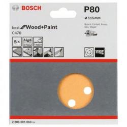 Lija Excentrica Best Wood Gr.80 115 mm Bosch
