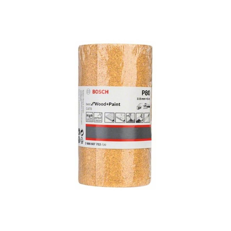 Rollo de lija de papel Bosch Best for Wood and Paint C470 Grano 80