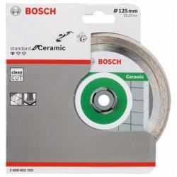 Disco tronzador de diamante Bosch Standard for Ceramic Ø125mm.