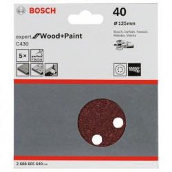 Hoja de lija Bosch Expert for Wood and Paint C430 Grano 40 Ø125mm.