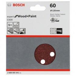 Hoja de lija Bosch Expert for Wood and Paint C430 Grano 60 Ø125mm.