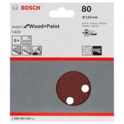 Hoja de lija Bosch Expert for Wood and Paint C430 Grano 80 Ø125mm.