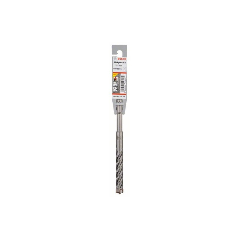 Broca SDS plus-5X Bosch para Martillos perforadores Ø14mm. 100x160mm.