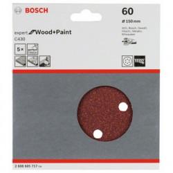 Hoja de lija Bosch Expert for Wood and Paint C430 Grano 60 Ø150mm.
