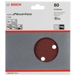 Hoja de lija Bosch Expert for Wood and Paint C430 Grano 80 Ø150mm.