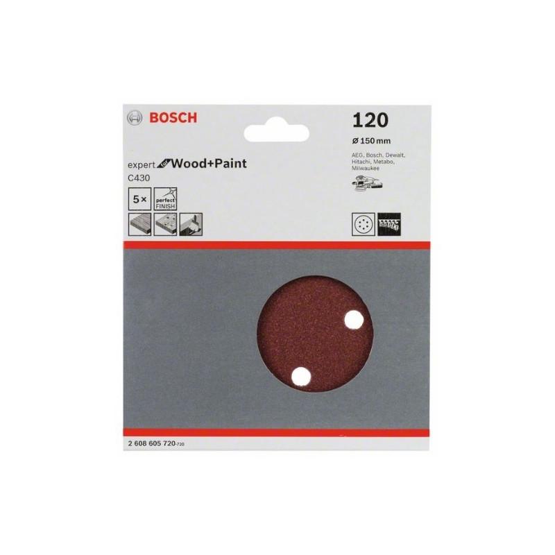 Hoja de lija Bosch Expert for Wood and Paint C430 Grano120 Ø150mm.