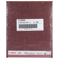 Hoja de lija Bosch Best for Metal J475 Grano 40
