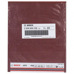 Hoja de lija Bosch Best for Metal J475 Grano 60