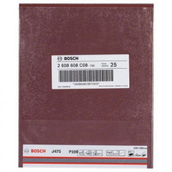 Hoja de lija Bosch Best for Metal J475 Grano 100