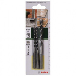 Set 3 Brocas Multiuso SDS-Quick Bosch