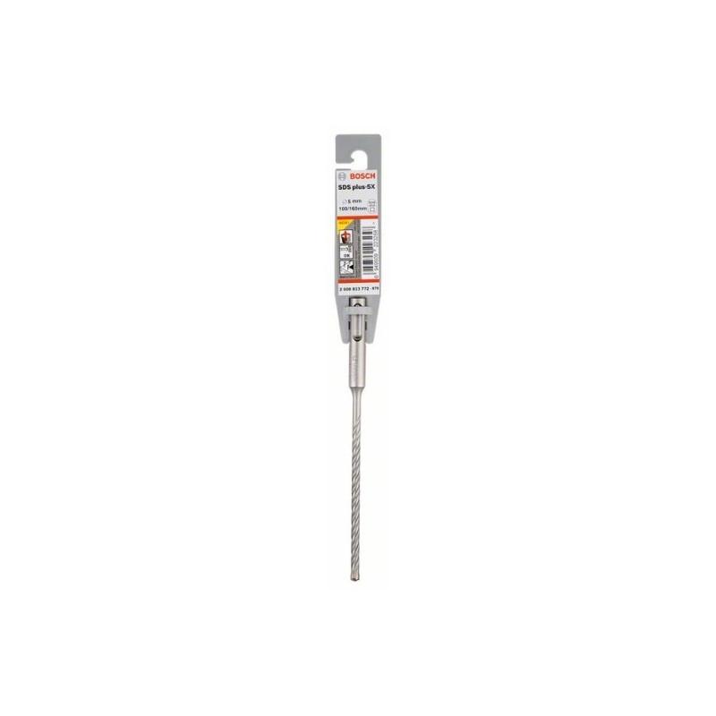 Broca SDS plus-5X Bosch para Martillos perforadores Ø5mm. 100x160mm.