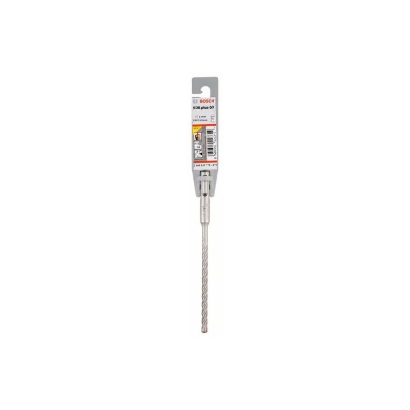 Broca SDS plus-5X Bosch para Martillos perforadores Ø6mm. 100x160mm.
