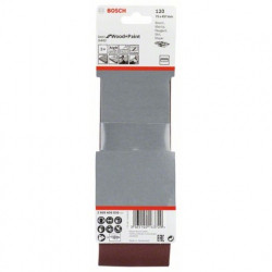 Estuche de 3 bandas de lija Bosch Best for Wood and Paint X440 Grano 120 75x457 mm.
